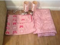 Lovely girls bedding, throw and lamp