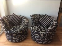 Two lovely as new designer swivel chairs