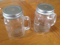 Never used drinking jars