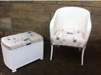 Loom tub chair and matching ottoman