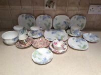 Lovely old China cups saucers etc