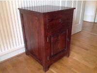 Two solid cherry wood bedside tables