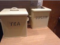 Enamel Tea and Sugar Container
