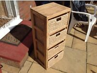Cane set of draws....ideal for anywhere in the home in pretty good condition