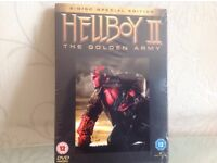 Hellboy 2 The Golden Army, 2 disc special edition. Brand new, still wrapped £3.00