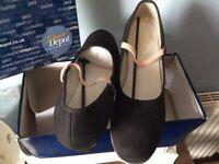 Cuban Heeled Jazz Dance Shoes (Black) UK 7