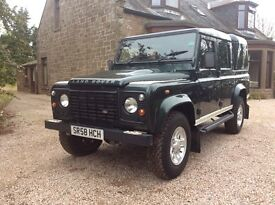 Land Rover Defender110 County Double Cab NO VAT Metalic Green 63000 miles