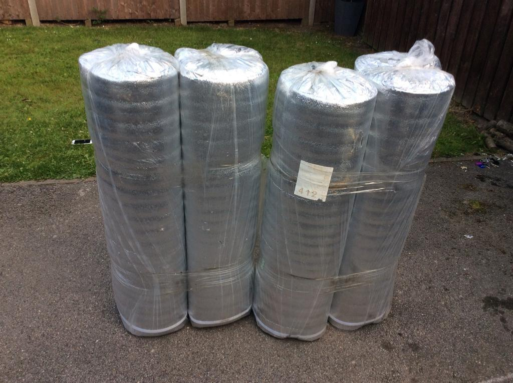 Laminate floor thermal foil backed insulation underlay 5mm thick 4 rolls |  in Alfreton, Derbyshire | Gumtree