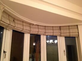 Quality tartan Roman blinds