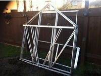 greenhouse complete apprx6x7 with upgraded glass and new parts