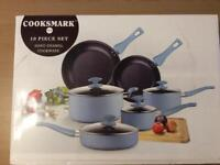 Cooksmark 10 piece hard enamel pan set