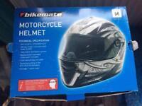 Motorcycle helmet, new and unused