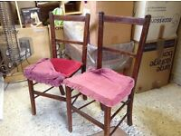 Pair of small vintage chairs