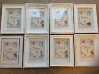 Alice and wonderland table numbers and frames