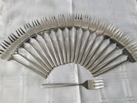 20 Stainless Steel Cake Forks.