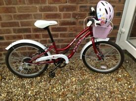 Girls Apollo Ivory cruiser bike 20 inch wheels