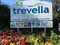 holiday let Newquay Cornwall trevella Park on-site fishing playing areas beaches shops attractions