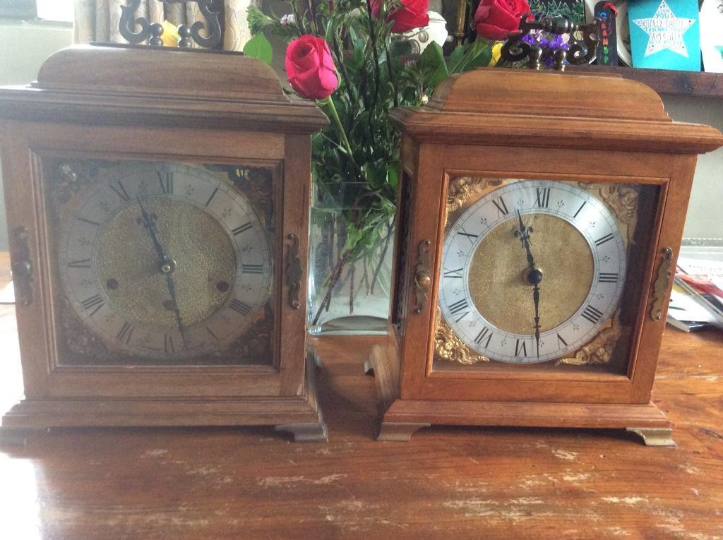 Mantle Piece Wooden Cased Clocks In Hayling Island