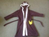 Child's Soft Feel Monkey Dressing Gown