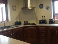BESPOKE DARK OAK KITCHEN UNITS & APPLIANCES