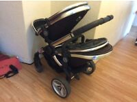 I candy Peach double buggy