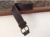 """NEXT Genuine Leather Belt (Brown) Size: Medium 32""""-35"""""""