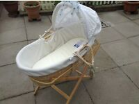 Lovely Moses basket and stand
