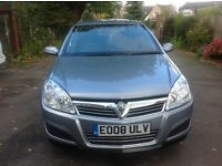 Vauxhall Astra Life A/C 1.6 2008 5 door hatch, one previous owner full service history, in vgc