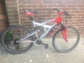 Adults Aluminium Barracuda Dual Suspension MTB 21 Sp