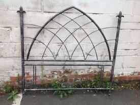 Metal double gothic style headboard