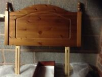 Single bed headboard, pine