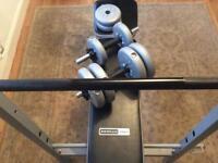 Weight bench & dumb bells