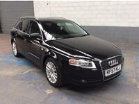 AUDI A4 ESTATE SE 2.0 AUTO 2008/57 BLACK WITH BLACK CLOTH 98,000 FULL HISTORY NEW TIMING BELT