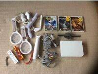 Nintendo Wii Console with accessories and games