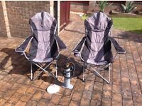 Camping chairs and equipment as new