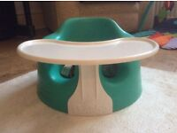 Bumbo Baby Seat with Play Tray and Harness VGC