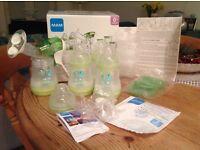 MAM Breastfeeding Starter Set - pump/bottles/extras