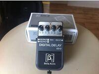 digital delay pedal for guitar/keyboards/vocals