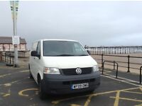 2009 VW Transporter van, 102 TDI, low mileage, Tow Bar, Ply lined, VAT free.