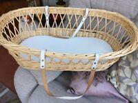 Cane Moses basket