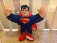 """Superman Man of Steel Hero Buddies 14"""" Talking Plush Soft Toy - NIDP"""