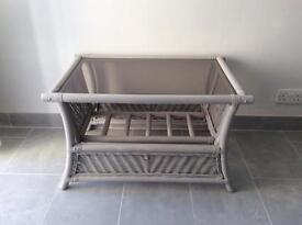 Rattan / cane glass top coffee table / conservatory table