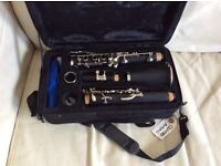 Artemis Bb Clarinet resin body wood effect. Supplied soft case. USED 2 TIMES. Perfect condition.