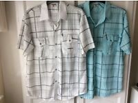 """Mens Quality Smart Casual Shirts x Two BRAND NEW 48-50"""" Chest"""