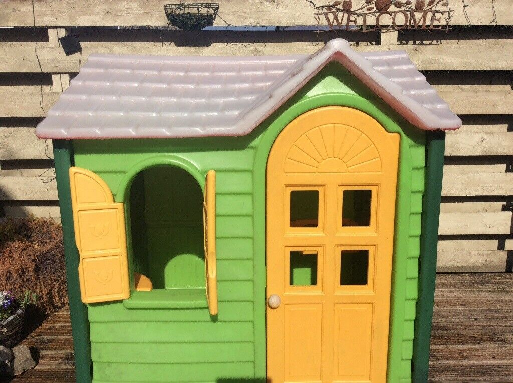Little Tikes Playhouse With Kitchen Inside Outdoor Toy Green Red And Yellow S New