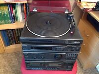 Sony turntable plus remainder of stack