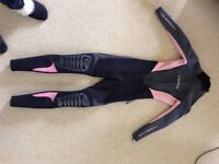 Ladies - C-Skins Wetsuit -Extra Small (Size 6/8) - 3/2mm (suitable May to September) - Black/Pink