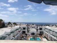 Holiday Week in Lanzarote with Sea Views. Duplex Sleeps 4 30th August for 7 nights.