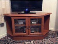 Retro corner TV/ media cabinet