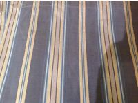 Curtains Bedeck Blue Grey stripe 64 x 55 New Fully lined Cotton Brand new